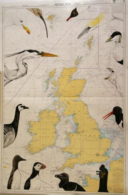 British Isles-illsutrated seachart